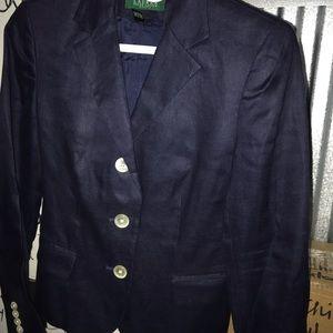 Linen Ralph Lauren blazer jacket lined